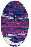 rug #1314463   oval blue-violet abstract rug