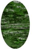 rug #1314507 | oval light-green abstract rug