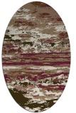 rug #1314523 | oval beige abstract rug