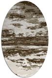 rug #1314527 | oval white abstract rug