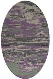 rug #1314551 | oval beige abstract rug