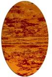 rug #1314575   oval orange abstract rug