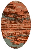 rug #1314587 | oval red-orange abstract rug