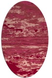 rug #1314599   oval pink abstract rug