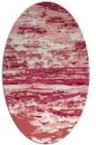 rug #1314603 | oval white abstract rug
