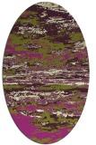 rug #1314611   oval green abstract rug
