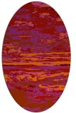 rug #1314635 | oval red abstract rug