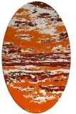 rug #1314651 | oval red-orange abstract rug