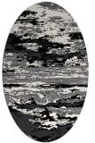 rug #1314655 | oval black rug