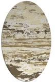 rug #1314687   oval yellow abstract rug