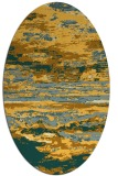 rug #1314695 | oval light-orange abstract rug