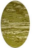rug #1314703 | oval light-green rug