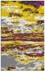 rug #1315059 |  yellow abstract rug