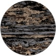 rug #1315111 | round black abstract rug