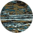 rug #1315127 | round brown abstract rug