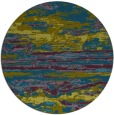 rug #1315175 | round green abstract rug