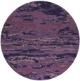 rug #1315195 | round blue-violet abstract rug