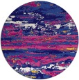 rug #1315199 | round blue-violet abstract rug