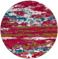 rug #1315215 | round red abstract rug