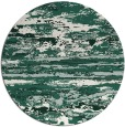 rug #1315235 | round green abstract rug