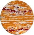 rug #1315315   round orange abstract rug