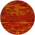 rug #1315363 | round orange abstract rug