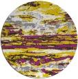 rug #1315427 | round yellow abstract rug