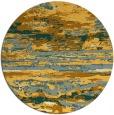 rug #1315431 | round light-orange abstract rug