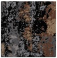 rug #1315843 | square black abstract rug