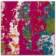 rug #1315951 | square red abstract rug