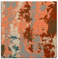 rug #1316055 | square orange abstract rug