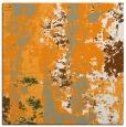 rug #1316195 | square light-orange abstract rug