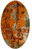 rug #1316206 | oval abstract rug