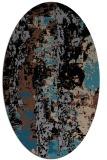 rug #1316219 | oval brown rug