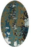rug #1316234 | oval abstract rug