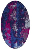 rug #1316239   oval blue abstract rug