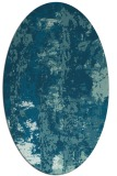 rug #1316255 | oval blue-green rug