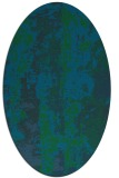 rug #1316263   oval blue-green abstract rug
