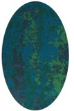 rug #1316267   oval blue-green abstract rug