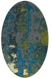 rug #1316335 | oval green abstract rug