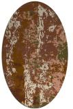 rug #1316355 | oval brown rug