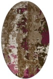 rug #1316363   oval mid-brown popular rug