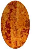 rug #1316415 | oval orange abstract rug