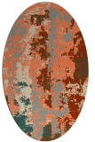 rug #1316423 | oval abstract rug
