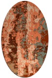 rug #1316427 | oval red-orange abstract rug