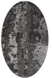 rug #1316427 | oval orange abstract rug