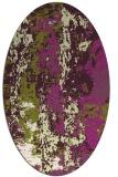 rug #1316451 | oval purple abstract rug
