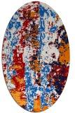 rug #1316464 | oval abstract rug