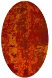 rug #1316467 | oval orange abstract rug