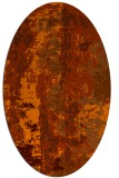 rug #1316479 | oval red-orange abstract rug